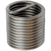 M6 x 1 x 1.5D  Stainless Steel  Wire Thread Steel Insert AISI 304 (SET OF 100 INSERTS)