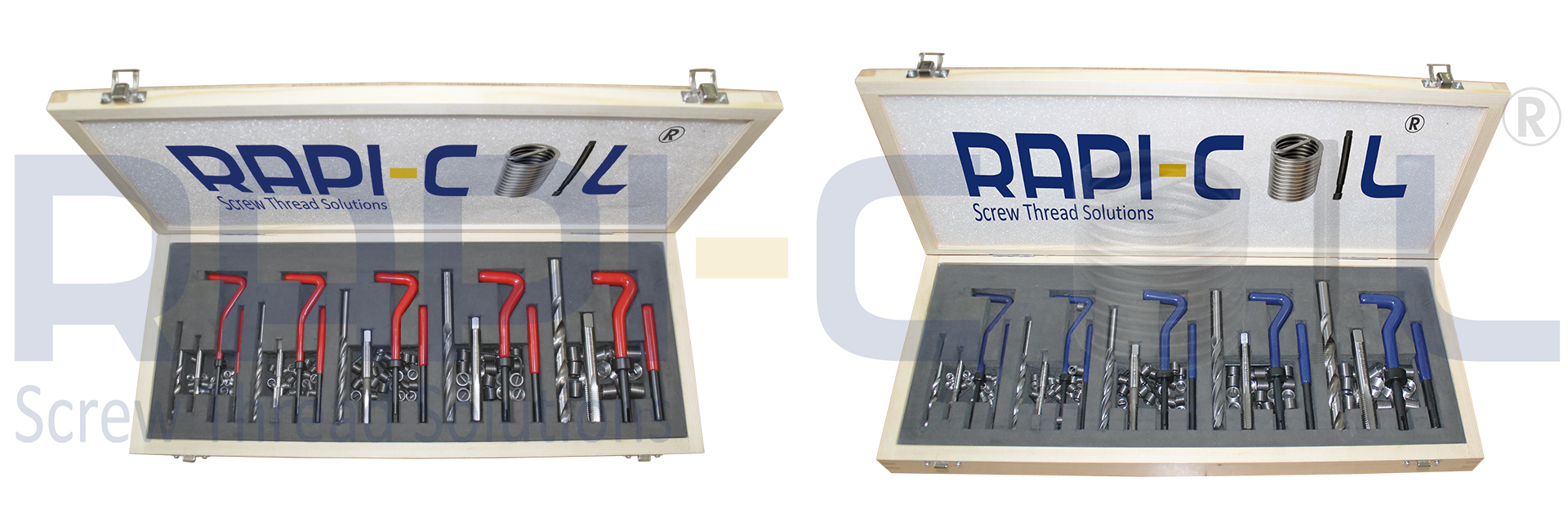 RAPI-COIL threading inserts provide for protecting and strengthening all types of tapped threads.